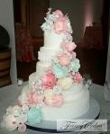 Pastel Sugar Flower Cascade