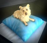 Cutie Dog on a Pillow Cake