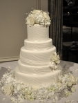 White Fondant Rouching