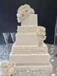 square ruffles cake