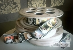 Engagement Portrait Film Reel Cake